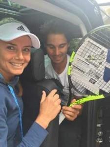 Daniela Hantuchova s Rafaelom Nadalom v Parizi