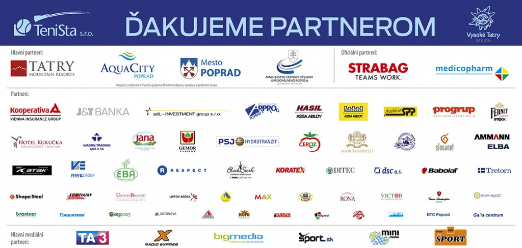 Podakovanie partnerom Poprad-Tatry Challenger 2016